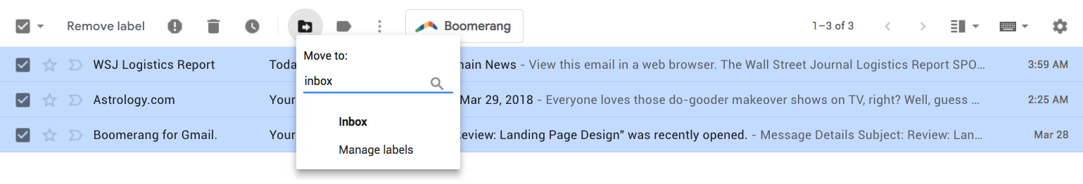 Boomerang for Gmail - Help