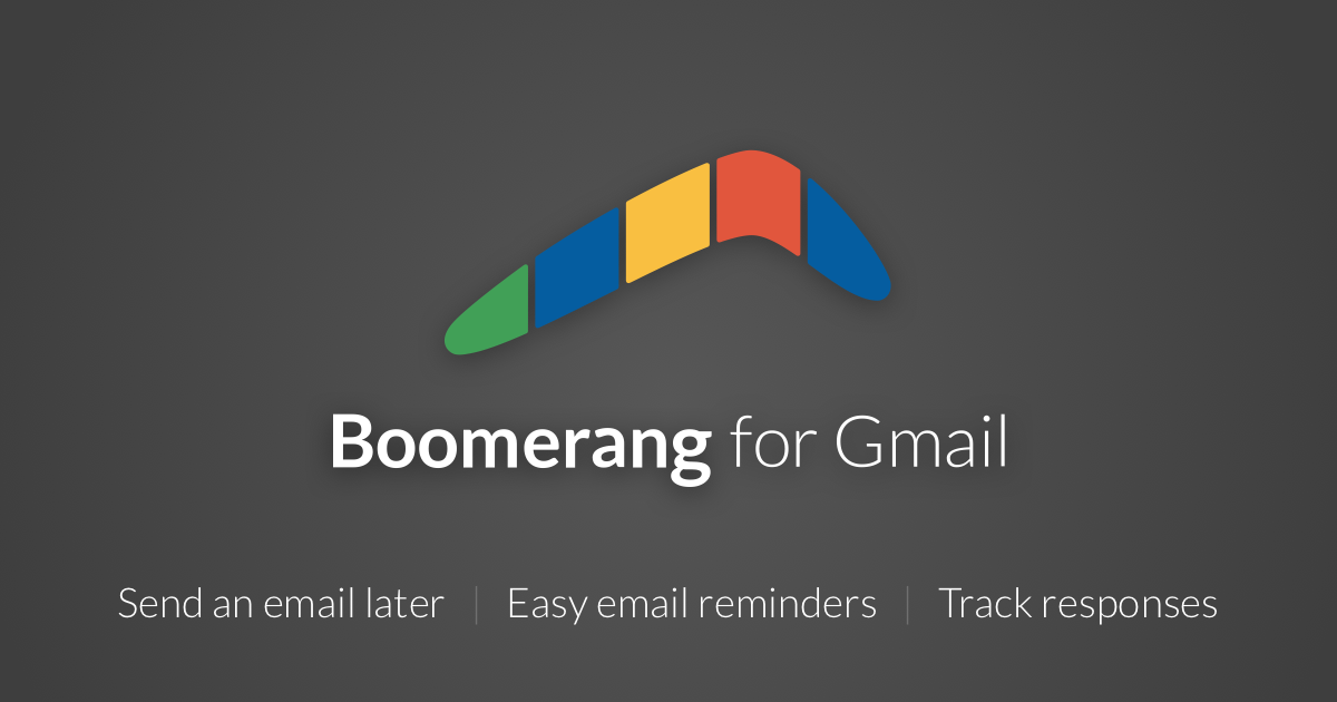 Scheduled sending and email reminders | Boomerang for Gmail