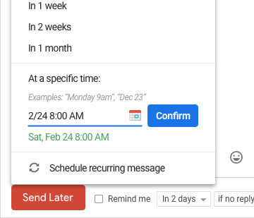 Send Later in Gmail | Boomerang