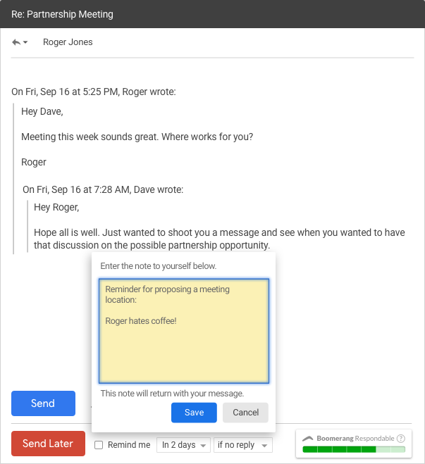 gmail notes app