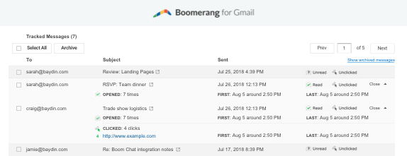 Receipt Received Word Read Receipts For Gmail  Boomerang For Gmail Purchase Receipts with Sample Invoice For Software Services Excel Manage Track Gmail Read Receipts Work Receipt Template Excel